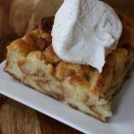 Vanilla Apple Almond Bread Pudding